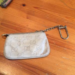 Gucci key ring wallet in beige